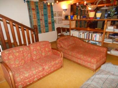 Salon du gîte familial en Ardèche
