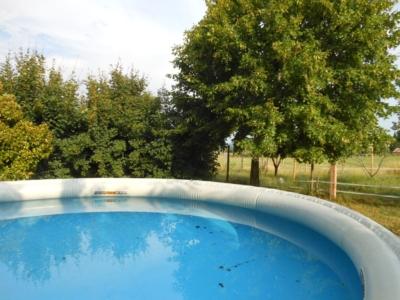 Piscine, chaleur, été à la maison bleue en Ardèche