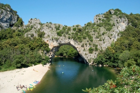 Le Pont d'Arc, arche naturelle en Ardèche