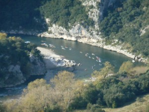 Descente de l'Ardèche en canoé dans les Gorges de l'Ardèche