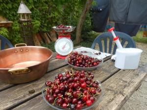 congitures de cerises en juin - court sejour en ardeche, midweek de semaine