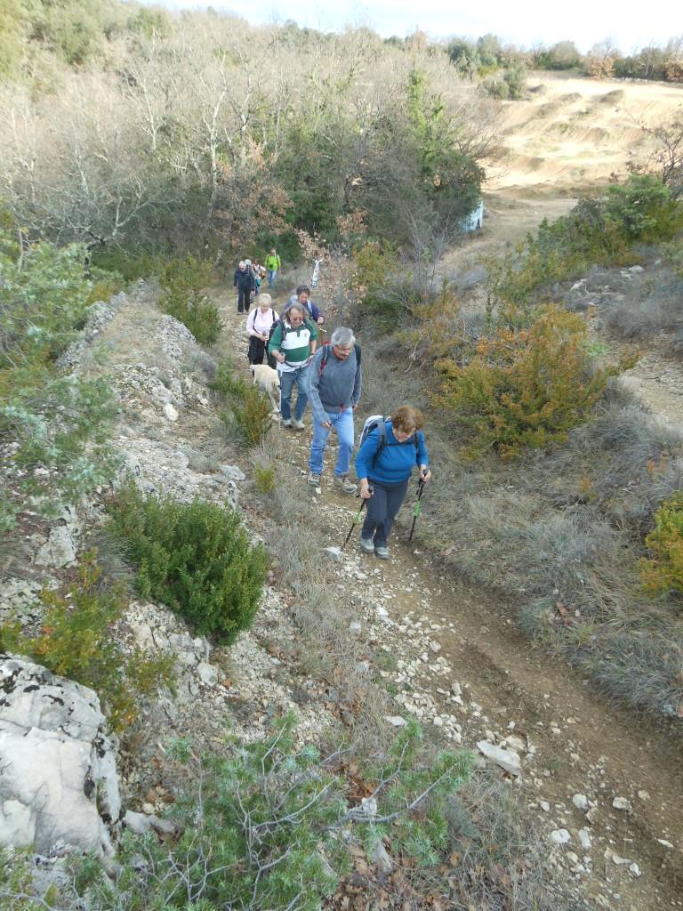 weekend d'hiver randonnée pédestre entre amis - location maison bleue - 20 personnes en Ardèche
