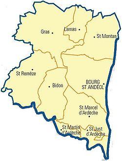 Canton de Bourg saint Andéol