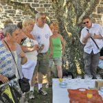 Groupe d'amis en vacances en Ardèche à la Maison Bleue