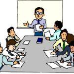 Séminaire réunion de travail dans une salle atypique