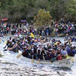 Départ du marathon international des gorges de l'Ardèche - Location gîte groupe 20 personnes