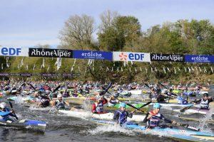 Ligne départ du marathon international des gorges de l'Ardèche - location gîte groupe 20 personnes