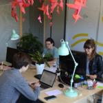 Réunion de bureau de l'association en séminaire à la maison bleue en Ardèche
