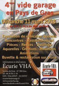 4ème vide garage à Gras en Ardèche le 11 mars 2018