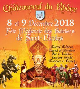 Fête médiévale des bateliers de Saint Nicolas - Châteauneuf du Rhône - Location gîte de groupe.