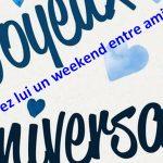 weekend anniversaire entre amis en Ardèche à la Maison Bleue