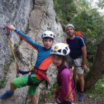 Escalade en famille en Ardèche